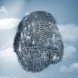 Fingerprint in sky — Stock Photo