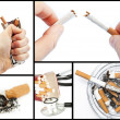 Stock Photo: Collage with cigarettes