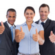 Royalty-Free Stock Photo: Group of smiling business people showing their thumbs up