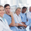 Foto Stock: Medical team in row