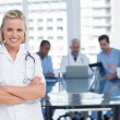 Nurse with arms crossed — Stock Photo