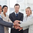 Group of business piling up their hands together — Stock Photo