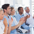 Foto Stock: Doctors clapping their hands