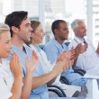 Stock Photo: Doctors clapping their hands