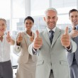 Business giving thumbs up — Stok fotoğraf