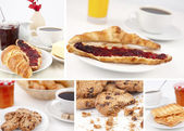 Pictures representing breakfast — Stock Photo