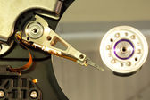 Close up of spindle of disk drive — Stock Photo