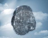 Fingerprint in sky — Stock Photo