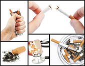 Collage with cigarettes — Stock Photo