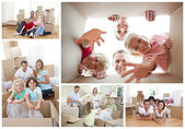 Collage of families — Stock Photo