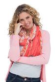 Attractive blonde woman posing — Stock Photo
