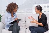 Konuşma terapisti için kadın — Stok fotoğraf