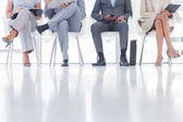 Group of business waiting — Stock Photo