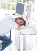 Designer asleep at his desk — Stock Photo