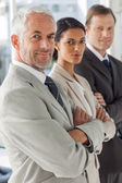 Business looking in the same way — Stock Photo
