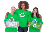 Happy group of enviromental activists — Stock Photo