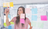 Woman in creative office — Stock Photo