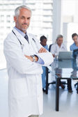 Doctor with arms crossed — Stock Photo