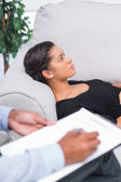 Woman at therapy session — Stock Photo
