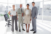 Business standing in line — Stock Photo