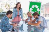 关于生态政策会议的队伍 — 图库照片
