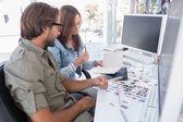 Photo editors working together — Stock Photo