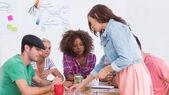 Creative team having brainstorming session — Stock Photo