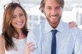 Confident design team smiling together — Stock Photo
