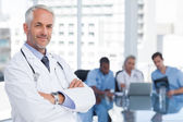 Doctor with arms folded — Stock Photo