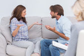 Couple going through therapy — Stock Photo