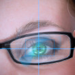 Green eyed woman with glasses — Stock Photo