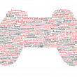 Stock Photo: Various red words representing joystick