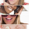 Stock Photo: Dental care collage