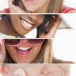 Dental care collage — Stock Photo