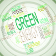 Green energy terms together — Stock Photo