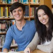 Two students in library — Stock Photo #25732579