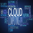 Cloud computing terms together — Stock Photo #25732887
