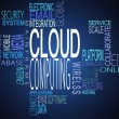 Stock Photo: Cloud computing terms together