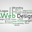 Stock Photo: Group of green web design terms
