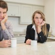 Woman and man having a dispute — Stock Photo
