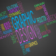 Montage of graphic design terms together — Stockfoto #25733963