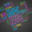 Montage of graphic design terms together — Stock Photo