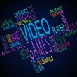 Stock Photo: Video games terms together