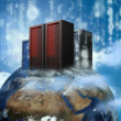 Data servers on top of the world — Stock Photo