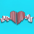 Drawn heart beat line — Stock Photo