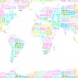 Map showing welcome in different languages — Stock Photo