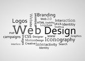 Group of web design terms — Stock Photo