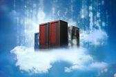 Descansando em nuvens de servidores de dados — Fotografia Stock