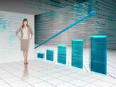 Businesswoman presenting graph — Stock Photo