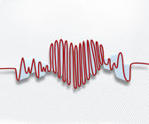 Heart rate waveform — Stock Photo